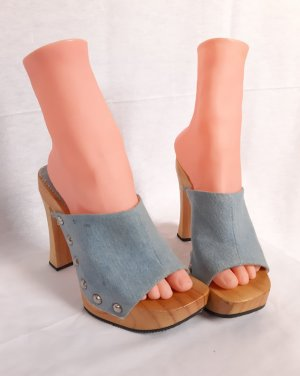 Buffalo London Clog Sandals azure