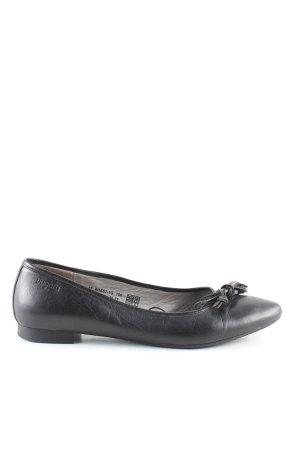 Bugatti Ballerinas mit Spitze schwarz Business-Look
