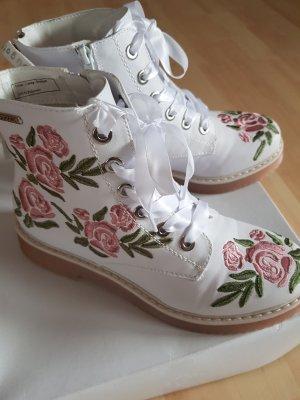 Bugatti Low boot blanc-vieux rose