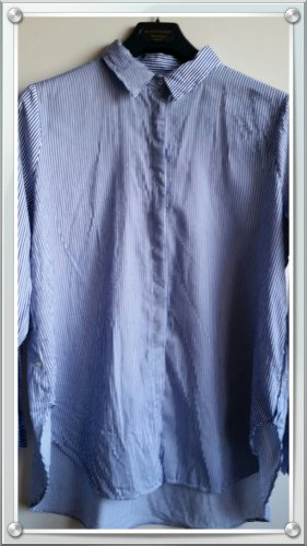 Bugatti Camicia blusa blu scuro-bianco
