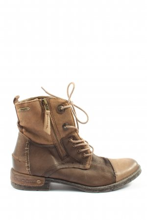 Bugatti Desert Boots brown-nude themed print casual look