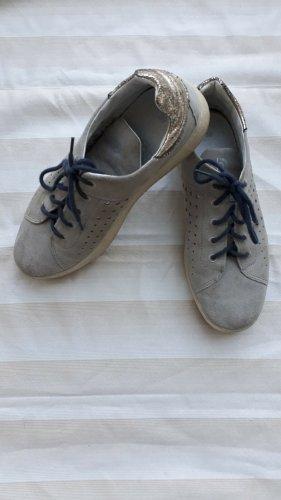 Bugatti Lace Shoes oatmeal-gold-colored mixture fibre