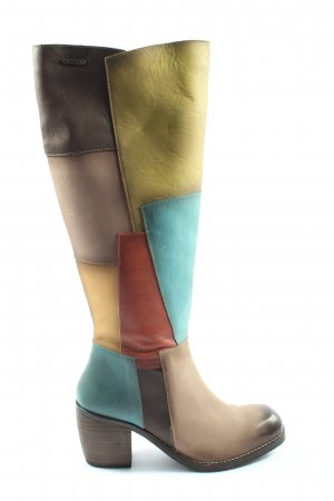 Bugatti High Heel Stiefel abstraktes Muster Casual-Look