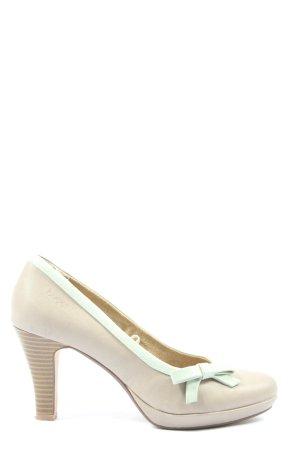 Bugatti Classic Court Shoe light grey-turquoise casual look