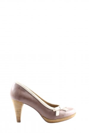 Bugatti High-Front Pumps brown-cream business style