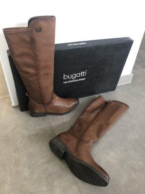 Bugatti Bottes à l'écuyère cognac-brun cuir
