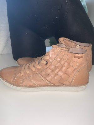 Bugatti Lace Shoes camel-beige leather
