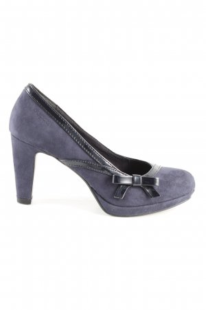 Bugatti Plateau-Pumps blau Casual-Look
