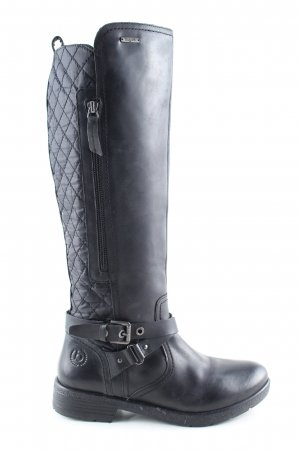 Bugatti Riding Boots black quilting pattern casual look