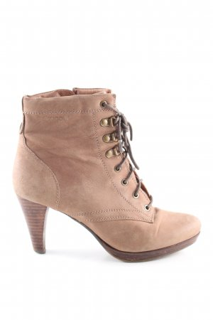 Bugatti Lace-up Booties nude casual look