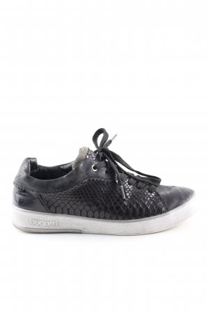 Bugatti Lace-Up Sneaker black animal pattern casual look