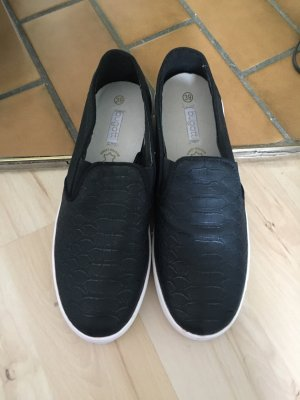 Bugatti Basket slip-on noir-blanc