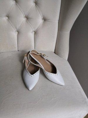 Bugatti Ballerina aperta sul tallone bianco