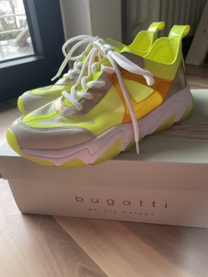 Bugatti Lace-Up Sneaker neon yellow-white
