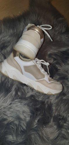 Bugatti Sneaker con zeppa oro-sabbia