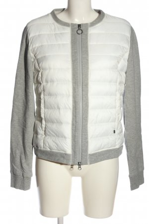 Bugatti Quilted Jacket white-light grey quilting pattern casual look