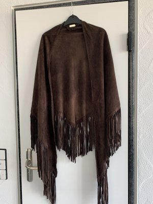 buhjah Châle au tricot brun