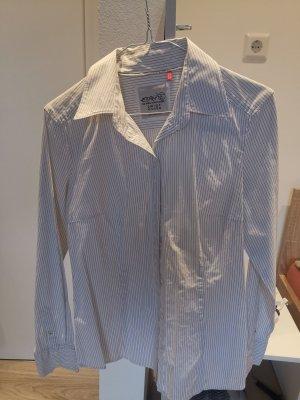 Esprit Koszula z długim rękawem biały-czarny