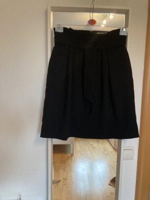 H&M Basic Rok met hoge taille zwart