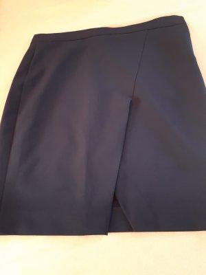 Asymmetrische rok donkerblauw Lycra