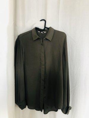 H&M Long Sleeve Blouse dark green