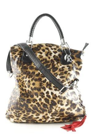 Bulaggi Handbag light brown-black animal pattern Logo appliqué