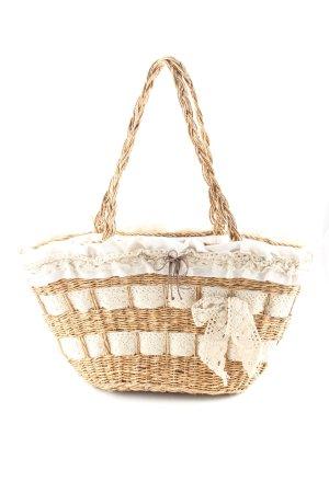 Bulaggi Bolso tipo cesta nude-blanco puro look casual