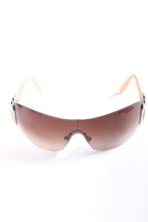 Bulgari Oval Sunglasses brown-cream casual look