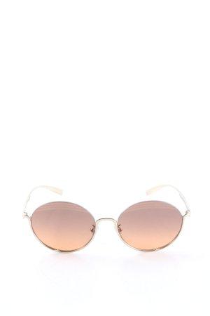 Bulgari ovale Sonnenbrille goldfarben-blassgelb Casual-Look