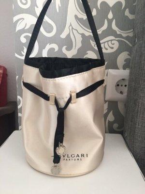 Bulgari Sac seau beige clair-noir tissu mixte