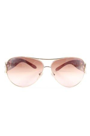 Bulgari Aviator Glasses brown-nude casual look