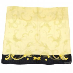 Bulgari Knitted Scarf beige silk