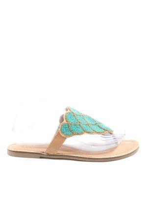 Bull Boxer Flip flop sandalen turkoois-nude casual uitstraling