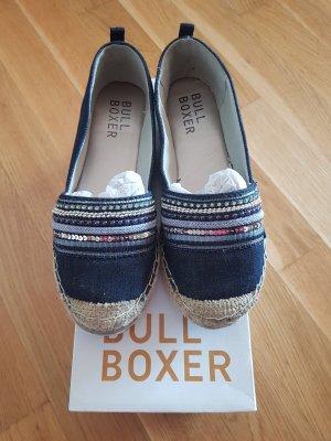 Bullboxer Scarpa slip-on blu scuro-blu Tessuto misto