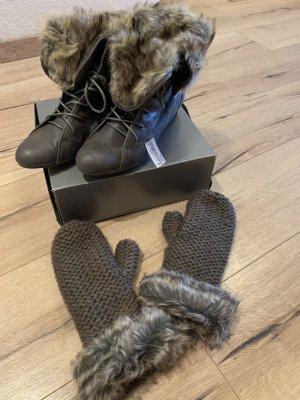 Bullboxer Boots gefüttert + passende Handschuhe