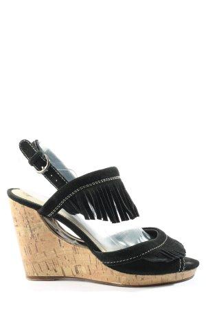 Bullboxer Sandalo con plateau nero stile casual