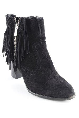 Bullboxer Reißverschluss-Stiefeletten schwarz Casual-Look
