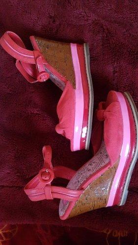 Bullboxer Zapatos de cuña rojo-rosa