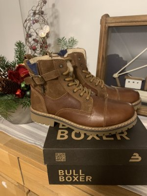 Bullboxer Lace-up Boots cognac-coloured
