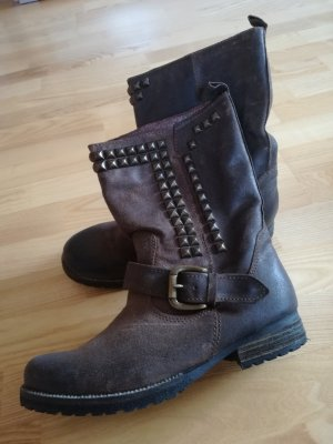 Bullboxer Western Boots black brown leather