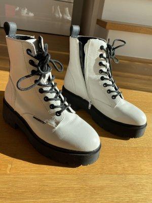 Bullboxer Platform Boots white-black