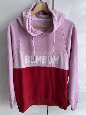 BumBum Oversized trui rood-lichtroze