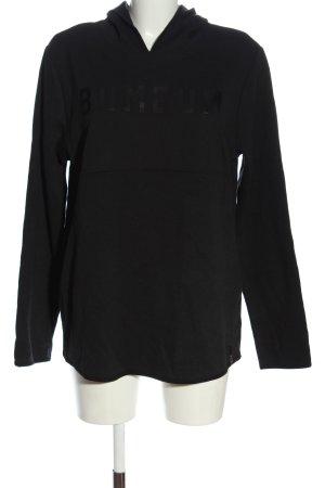 BumBum Hooded Sweatshirt black printed lettering casual look