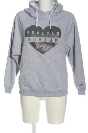BumBum Sweat à capuche gris clair imprimé avec thème style décontracté