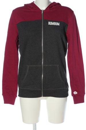 BumBum Sweat à capuche rose-gris clair moucheté style décontracté