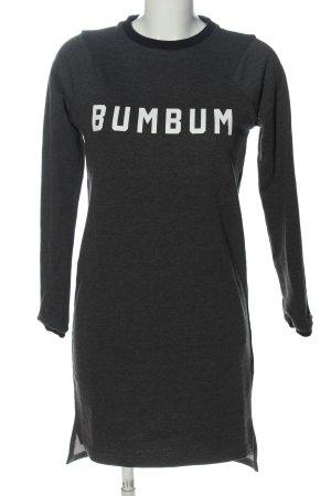 BumBum Robe à manches longues gris clair moucheté style décontracté
