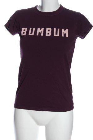 BumBum T-shirt imprimé brun lettrage imprimé style décontracté