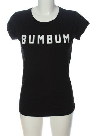 BumBum Shirt met print zwart-wit gedrukte letters casual uitstraling