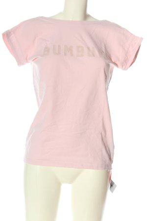 BumBum T-shirts en mailles tricotées rose lettrage imprimé style décontracté