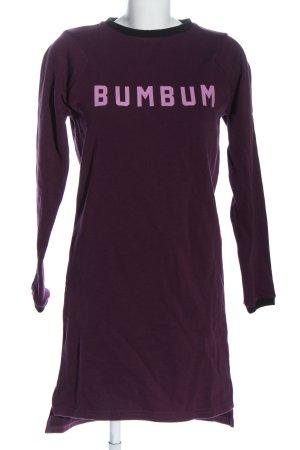 BumBum Robe Sweat violet lettrage imprimé style décontracté
